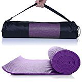 Masione® Yoga Mat 6mm Thick Floor Exercise Mats Workout Fitness Pilates Blanket Anti-Tear and Non Slip Surface Cushioned Foam Camping Pad with Carry Bag Pink (trolleytrends) Tags: anti blanket camping carry cushioned exercise fitness floor foam masione® mats pilates pink slip surface tear thick with workout yoga
