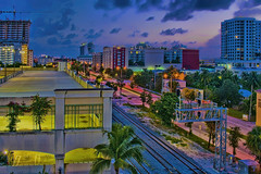 City of West Palm Beach, Palm Beach County, Florida, USA (Jorge Marco Molina) Tags: westpalmbeach palmbeachcounty city cityscape urban downtown skyline southflorida density centralbusinessdistrict skyscraper building architecture commercialproperty cosmopolitan metro metropolitan metropolis sunshinestate realestate highrise royalparkbridge townofpalmbeach palmbeach bluehour urbanpalms