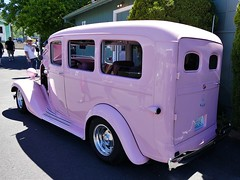 'Big Pink' (bballchico) Tags: chevrolet suburban billetproof carshow