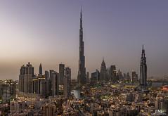 Dubai Skyline (Hany Mahmoud) Tags: dubai emirates burj khalifa burjkhalifa tower skyscraper dubaidowntown downtown dubaiskyline cityskyline skyline towers city cityscape luxury travel explore sunset sunrise dusk