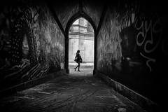 graffiti arch (Daz Smith) Tags: chosen dazsmith fujixt20 fuji xt20 andwhite bath city streetphotography people candid portrait citylife thecity urban streets uk monochrome blancoynegro blackandwhite mono graffiti arch woman walking silhouette