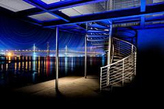 A Bridge too far.jpg (___INFINITY___) Tags: 6d aberdeen river university blue bluehour boathouse canon darrenwright dazza1040 dee eos flash infinity light lightpainting riverside scotland spiral stack staircase strobist