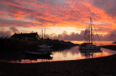 Porlock Weir Sunrise (tog@goldenhour) Tags: sunrise dawn harbour porlockweir exmoor uk toggoldenhour sonya7rm2 yachts redsky reflections nationalpark landscape seascape zeiss2470mm