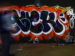 Yoek (Steve Taylor (Photography)) Tags: yoek dlc doinglesscrime graffiti tag streetart mural colourful contrast vivid aerosol spray man uk gb england greatbritain unitedkingdom london blur leakestreet