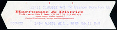 ticket - harrogate x dist 31-8-02 (johnmightycat1) Tags: bus ticket