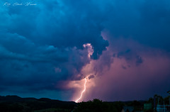 Thunderstorm (Rita Eberle-Wessner) Tags: landscape landschaft gewitter thunderstorm lightning blitz wolken wolke cloud clouds nacht night blue blau violett violet regen rain gewitterwolke