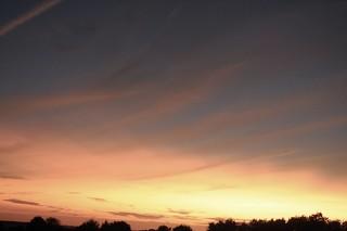 Gelber Sonnenuntergang vor meinem Fenster; Bergenhusen, Stapelholm (12)