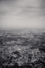 Chennai to New Delhi (Raja Rockey) Tags: travel chennai new delhi ariel view birds eye through window journey flight landscpae topview land mother earth fascinating likes love nature clouds sky blackandwhite photography india
