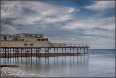 Aberystwyth Pier (simon_x_george) Tags: 2017walesaber aberystwyth pier landscape seascape wales hdr