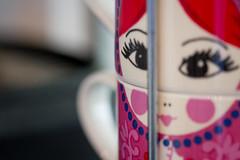 Lady Cup Set (mak_9000) Tags: macromondays kitchen mug cup memberschoicefoundinthekitchen macro hmm mm pink handle