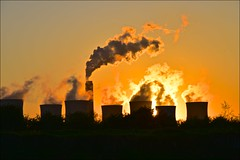 Going... (Nanny Bean) Tags: rivertrent torksey coolingtowers smoke steam silhouette sunset cottampowerstation