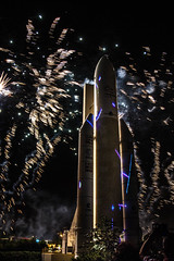 feu d'artifice bouquet final - Cité de l'Espace - 24 août 2017 (jara311) Tags: feudartifice petitprince laser fusée ariane5