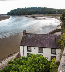 River Taf Estuary, Laugharne, Carmarthenshire. Wales. UK (2.5 mil views - Thank you all.) Tags: staneastwood stanleyeastwood laugharne carmarthenshire wales river water sea estuary sand building cottage