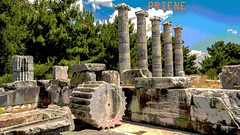 PRIENE Ancient City,  The Temple of Athena (Söke/ Turkey) (Feridun F. Alkaya) Tags: priene söke turkey roman temple ancient archaeological archaeology anatolian archeology arkeoloji feridunalkaya greek historical history historic hellenistic hisrorical byzantine ngc templeathena athena türkiye