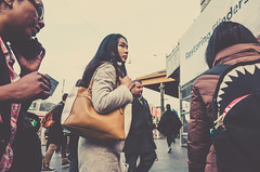 Flinders Street Station (JonShootsStreetPoorly) Tags: 28mm people apsc asian backpack bag beautiful color colour contrast cute dreamy flindersstreet girl golden gr iconic life melbourne melbs metro pastel photography photos pointandshoot ricoh ricohgr shadow shot smooth snap station street streetphotography streetscene streetshooter streetshot streetview streets toning tourists travel urbanpeople urbanstreet urbanview warm