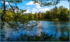 Greizer Park (Karabelso) Tags: water lake sky trees blue landschaft greiz park wasser see himmel blau panasonic lumix gx7 landscabe germany thüringen
