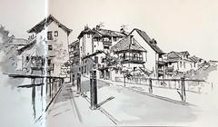 Rumilly ( Haute-Savoie, France ) (m.JaKar) Tags: annecy croquis dessinurbain france feutre hautesavoie insitu usk rumilly urbansketchers vieilleville