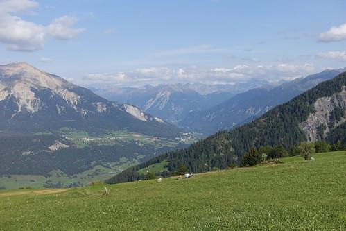view east from Obermutten