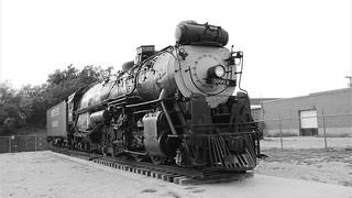 Santa Fe 5000 Steam Train Black and White