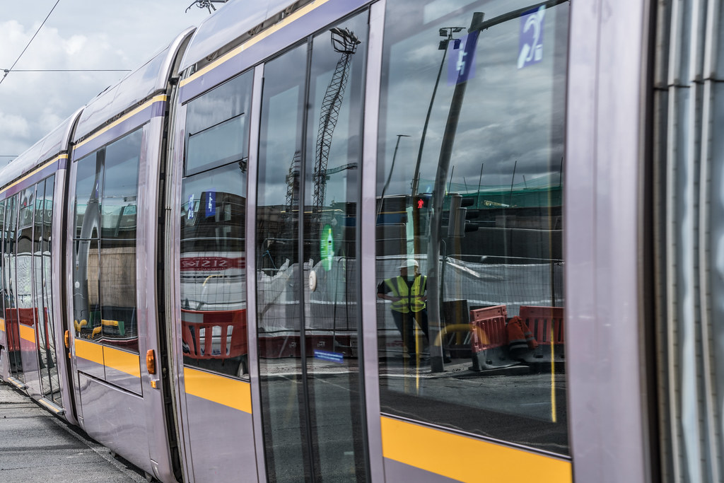 THE NEW LUAS TRAM STOP AT BROADSTONE [TESTING PHASE UNTIL EARLY DECEMBER]-1324707