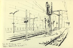 Gare de Strasbourg (lolo wagner) Tags: gare strasbourg train croquis sketch usk urbansketchers