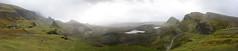 Skye Panorama2 (nic0704) Tags: scotland hiking walking climbing summit highlands outdoor landscape hill mountain foothill peak mountainside cairn munro mountains skye isle island cuilin cuillin blaven blà bheinn red black elgol quiraing trotternish eilean donan castle loch duich
