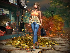 Spoonful of Sugar Festival Starts September 16! (lauragenia.viper) Tags: doctorswithoutborders emberoticsfashiondesigns firelight secondlife secondlifeevent secondlifefashion slipperoriginals spoonfulofsugar imageessentials outdoor person avatar virtual scenic fall autumn event top jeans heels curly girl woman