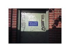 Aarhus, Denmark (circa 2008) (csinnbeck) Tags: olympus xa2 35mm film analog denmark aarhus 2008 door sign toilet graffiti tagging