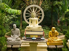 Buddhist shrine in countryside near Mae Sot, Thailand (JJ Doro - Bangkok) Tags: buddha buddhism buddhist maesot seasia thailand asia asian asianmarket religion religious shrine worship tambonthasailuat tak th