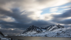 There's never time to stop and sleep (OR_U) Tags: 2017 oru norway lofoten longexposure bridge clouds cloudscape landscape mountains sea fjord weather snow winter revsal 169 widescreen
