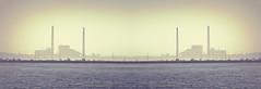Afternoon Haze (imageClear) Tags: mirrored picmonkeycom powerplant stacks smokestacks harbor sailboats lake lakemichigan hazy haze afternoon lovely color summer beauty pano panorama sheboygan wisconsin nikon aperture imageclear flickr photostream d500 80400mm