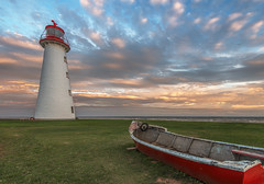 Point Prim Lighthouse, PEI (angie_1964) Tags: point prim lighthouse pei canada nikond800 sunset clouds colour boat sky water princeedwardisland island