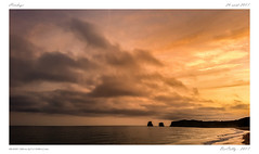 Hendaye (BerColly) Tags: france paysbasque hendaye pale beach ocean couchersoleil sunset ciel sky nuages clouds samsung smartphone bercolly google flickr