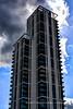 Foreboding tower (© Freddie) Tags: london greenwich se10 northgreenwich eastgreenwich greenwichpeninsula fjroll ©freddie clad cladding foreboding olympianway thamesfootpath