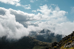 Touching Clouds (GeraldGrote) Tags: hike scotland glencoe mountain sky berg bideannambian highland wolken clouds unitedkingdom gb