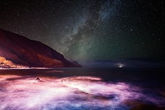 In Another World (free3yourmind) Tags: another world cosmos universe night sky stars starry milky way lapalma canary islands spain rocks sea ocean atlantic waves lightning