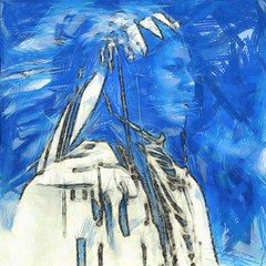 ( You can never completely erase the past ) (Wandering Dom) Tags: native american indian powwow people past present future time life reality dream existence being nothingness human portrait impression expression