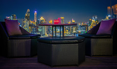 Relax coner (anekphoto) Tags: evening chair thai luxury asia club beer terrace roof tourism high tower beautiful bars landmark asian bangkok bar rooftop city light drink sunset top business background twilight view downtown modern panorama landscape restaurant night thailand travel sky building cityscape urban table hotel food blue lifestyle alcohol architecture famous seat metropolitan