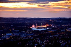 Canstatter Wasen, Volksfest (DrQ_Emilian) Tags: sunset sunlight night dark view landscape cityscape city urban urbanexploration stuttgart germany badenwürttemberg europe travel destination wasen volksfest light colors lights sky outdoors hobbyphotographer