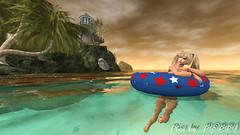 Poppy's Beach  (4) (Poppys_Second_Life) Tags: 2l baha dolphin flipper homesweethome jetty picsbyⓟⓞⓟⓟⓨ pier popi popisadventuresin2l popikone popikonesadventuresin2l poppy sl secondlife virtualphotography swimming swimmingwithdolphin