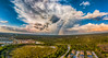My Back Yard (DonMiller_ToGo) Tags: mavicpro panoimages6 panoramic sunset autostitch rainbow outdoors skypainter aerial weather florida clouds