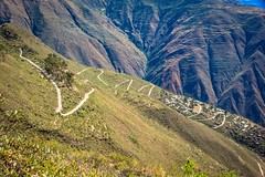 More switchbacks on a 40 kilometre descent to the river.