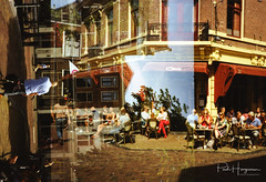 (Accidental) Double exposure @ Utrecht (PaulHoo) Tags: olympus xa2 city urban film analog 35mm 2017 kodak gold saturized double exposure fluke utrecht holland netherlands mistake error