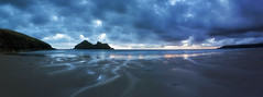 Holywell Bay, North Cornwall (MelvinNicholsonPhotography) Tags: holywellbay northconrwall cornwall beach seastacks storm stormyskies sunset melvinnicholsonphotography nisifilters gitzogt3543xls manfrotto405 canon5dmk4