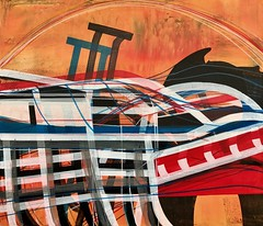 Jim Harris: Energy Wave Transfer Station - New Arctic Region. (Jim Harris: Artist.) Tags: art lartabstrait abstract abstractart konst künstler kunstzeitgenössische avantgarde painting abstraction taide maalaus