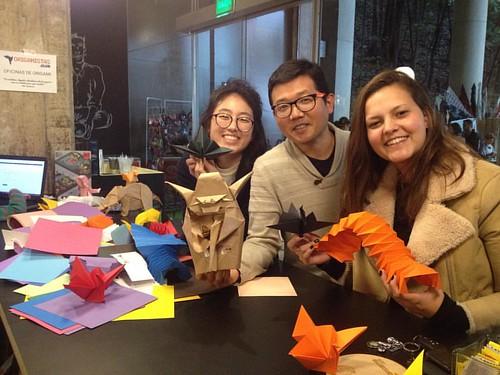 Novas alunas de origami ;-) Mestre Yoda me guiando para onde está a minha força!  #aniversario #origami #flow #criatividade #tessellation