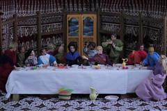 Past Repast (raining rita) Tags: pastrepast thelastsupper dolls ken gijoe