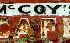 McCoy Hospitality (Junkstock) Tags: aged abandoned artifact artifacts advertisement advertising americana cafe color commerce corrosion corroded decay decayed distressed graphics graphic nostalgic nostalgia old oldstuff oldandbeautiful patina paint peelingpaint rustic relic rust rusty rusted red rural ruralexploration signage sign signs text textures texture typography type vintage weathered washington