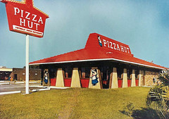1972 Pizza Hut (Brett Streutker) Tags: restaurant cafe diner eatery food hamburger cheeseburger eat fast macdonalds burger vintage colonel sanders kentucky fried chicken big mac boy french fries pizza ice cream server tip money cash out dining cafeteria court table coffee tea serving steak shake malt pork fresh served desert pie cake spoon fork plate cup drive through car stand hot dog mustard ketchup mayo bun bread counter soda jerk owner dine carry deliver