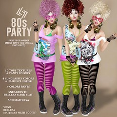 OMG 80'S PARTY 2 - OUTFIT (Kim Lysette) Tags: 80 80s eights party legendaire secondlife slfashion slblogger store